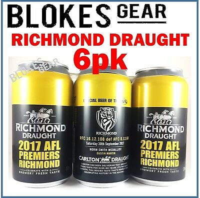 AFL Richmond Tigers 2017 Premiership Carlton Draught Beer 6pk Memorabilia Ltd Ed