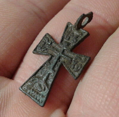 Ancient Bronze Cross.  Very Rare !!!