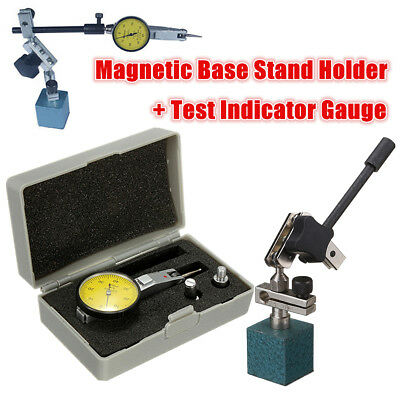 Flexible Magnetic Base Holder Stand + Precision Scale Dial Test Indicator Gauge