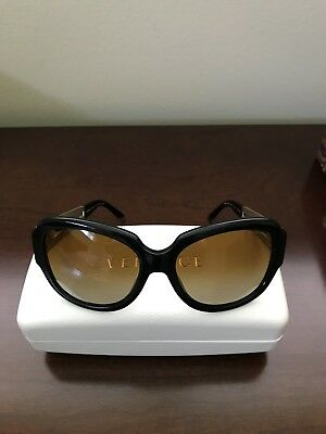 fefd724262a5a Versace Sunglasses VE 4304 GB1 T5 Black Pale Gold Polarized Brown + Versace  Case.