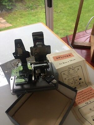 Vintage Phot-all 16mm 8mm film winder Splicer Editor New in Box suite collector