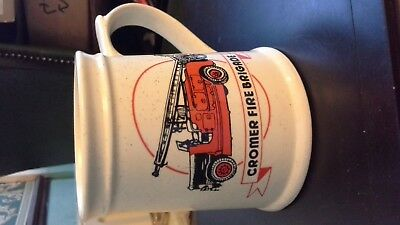 Superb Cromer Fire Brigade Tankard By Holkham Pottery-1880-1980- Quality In Vgc