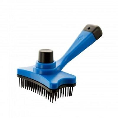 Pet Dog Cat Grooming Push Button Self Cleaning Brush Comb Shedding Hair Tool