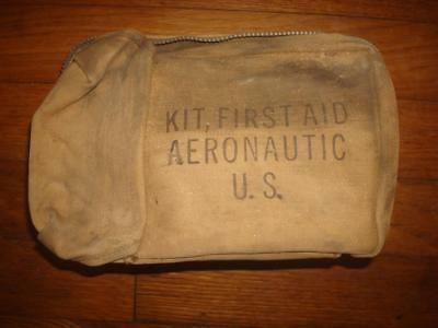 1943 Ww Ii Us Army Air Force Aeronautic First Aid Kit Vintage With Contents