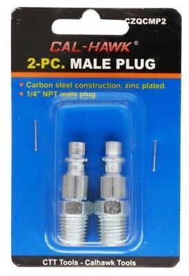 """2 piece Set Pneumatic Connector Male 1/4"""" NPT Air Tool Connection Hose Connector"""