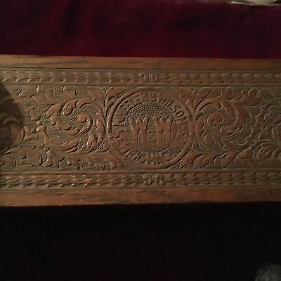 Antique Authentic Wheeler And Wilson Sewing Machine Accessory Box Excellent Cond