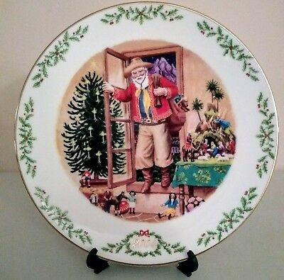 2004 Lenox Chilean Santa Claus Collector Plate Final Issue in Collection