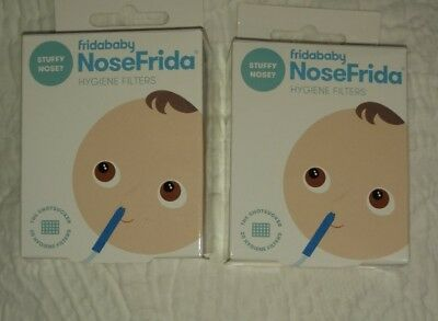 Lot of 2- Fridababy Hygiene Filters for NoseFrida the Snotsucker (40 total)