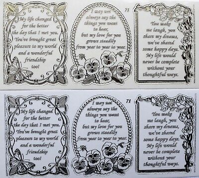 Double Embossed Clear Friend Anniversary PEEL OFF STICKERS 3  Verses No. 71