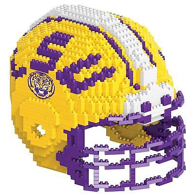 LSU Tigers NCAA HELMET Large 3D Lego-Type Building Set Team Logo Age 12+ NEW