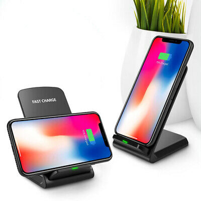 USA FDGAO Qi Wireless Charger For iPhone XS Max XR 10W Fast Charging Stand Dock