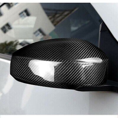 Fit for Nissan 350Z 03-09 Carbon Fiber Rearview Side Wing Mirror Cover Cap 2Pcs
