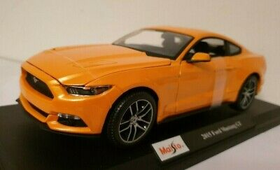 Diecast 1:18 Ford Mustang GT 2015  Maisto Model Cars Toys Kids Sports SILVER NEW