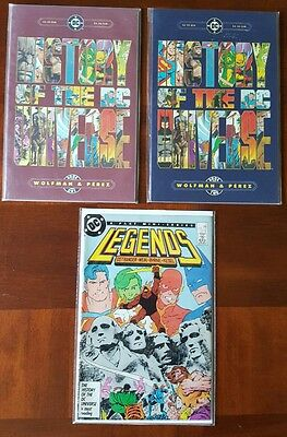 Legends #3 & History of the DC Universe 1-2      1st Modern Suicide Squad