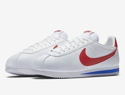 new product e0857 8ce7c 882254-164 MEN'S NIKE Cortez Leather Classic White/Red/Blue Size 8-12 New  in Box