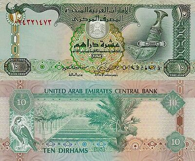 United Arab Emirates 10 Dirhams (2009) - Dagger/Hawk/p27a UNC