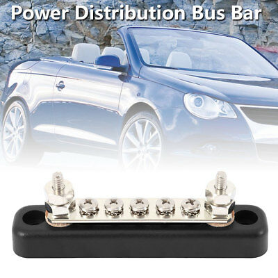 Auto & Marine 100A Power Distribution Bus Bar Terminal Block - 5x4mm Screws