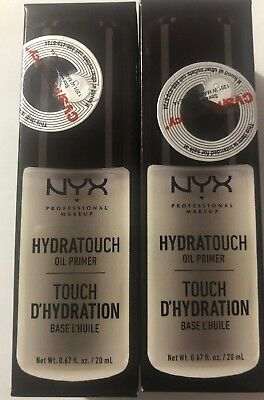 2 NYX Hydra Touch Oil Primer Light Weight HTOP01 Joy's cosmetics Sealed New Dúo