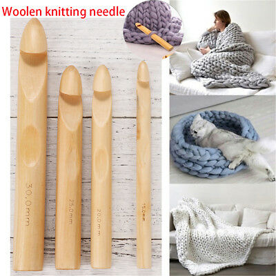 Bamboo Handle Crochet Hook Iceland Knitting Weaving Needle DIY Craft Loom Tools