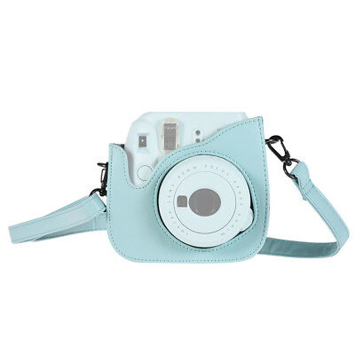 Andoer PU Instant Camera Case Bag w/ Strap Ice Blue for Fujifilm Instax Mini 9/8