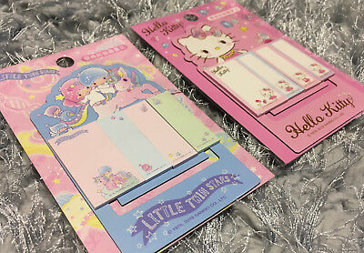Little Twin Stars Hello Kitty Sticky Note Pads Cute Memo Message Magnet Bookmark