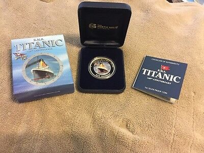 Tuvalu 2012 RMS Titanic Ocean Liner Sinking 100th Anniversary Pure Silver Coin