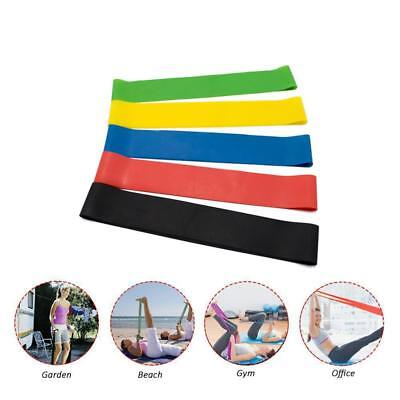 5 x  Resistance Bands Loop Exercise Workout CrossFit Fitness Stretching Yoga