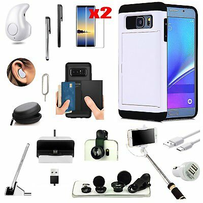 Case+Wireless Earphone+Monopod+Fish Eye Accessory Kit For Samsung Galaxy S8 Plus