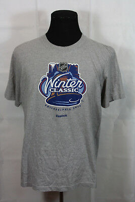 2012 Reebok NHL Winter Classic Philadelphia Gray Tee Shirt XL