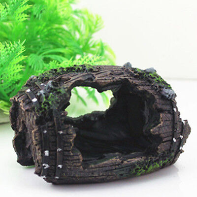 Aquarium Fish Tank Barrel Resin Ornament Cave Landscaping Furnishing Decoration
