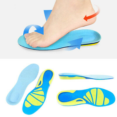 Silicon Gel Insoles Foot Care Pads for Plantar Fasciitis Heel Spur Sport Running