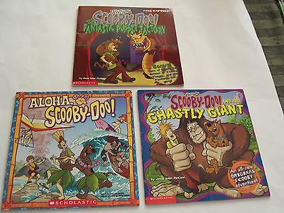 3 Collectable Scooby-Doo Scholastic Paperback Books - 2000, 2003, 2004