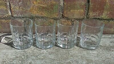 4 Canadian Club Whiskey Mid Century Modern Design Bottom Embossed