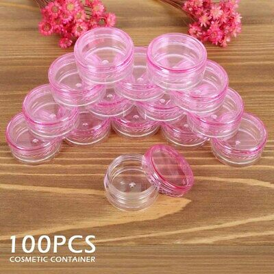 Small Clear Plastic Empty Cosmetic Sample Art Craft Storage Containers Jars Pots