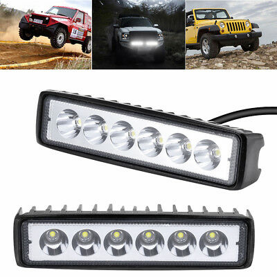 "2pcs 6"" 18W LED Work Light Spot Flood Beam LED Car Boat Offroad Lamp SUV/ATV 12V"