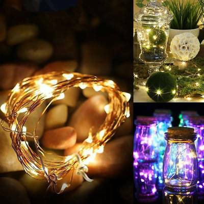 LED Battery Powered Micro Rice Wire Copper Fairy String Light Xams Party Decor