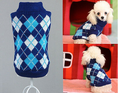 Cute Pet Clothes Teddy Dog Cat Sweater Jumper Autumn & Winter Coat Jacket Gift