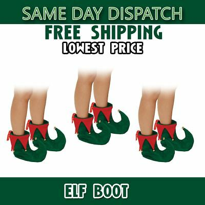 Elf boot Fency Dress Costume Shoes Christmas Adult Deluxe SANTA'S HELPER