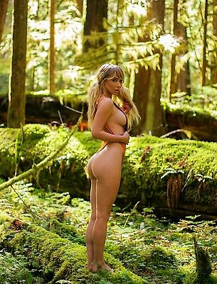 Sara Jeans Underwood In The Woods 8x10 Glossy Photo Print