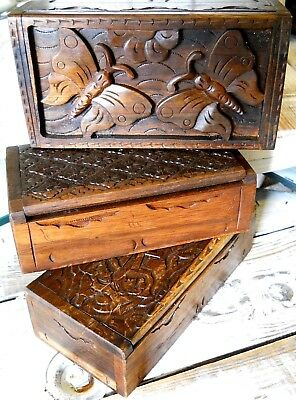 Amazing Wooden Boxes Variants of Top 20 x 10 x 5 cm Brown Colour Home Decoration