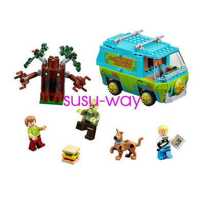 Hot 305Pcs Scooby Doo Mystery Machine Bus Building Block Building Toys-10430 UK