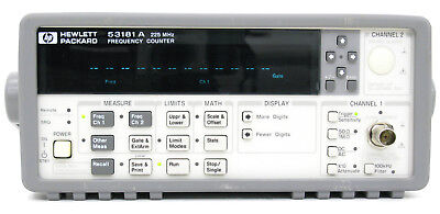 HP Agilent Keysight 53181A 3 GHz  opt. 030 Frequency Counter FRESH CERTIFICATE