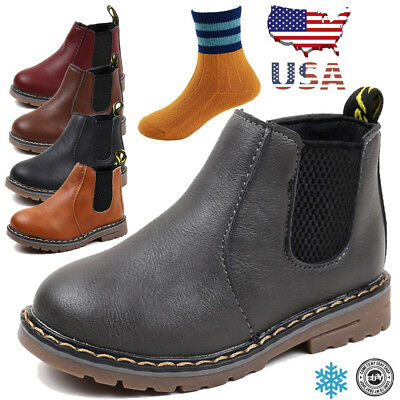 Christmas Winter kids Martin Boots Snow Baby Shoes Toddler Boys Girls Boots 9 10