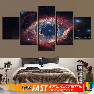 5 Piece Home Decor Canvas Print Painting Space Wall Art Eye Starry Sky Landscape