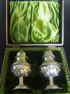 Antique Victorian Cased Sterling Silver Pepperettes - 1899/1900