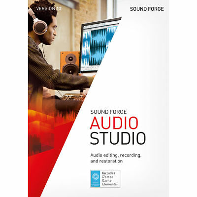 NEW SONY SOUND Forge Audio Studio 12 Disc Included MAGIX / SONY *USA SELLER*