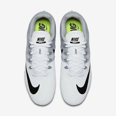 Nike Zoom Rival S 8 Men Sprint Shoes 806554-110 White-Size 13 without Spikes