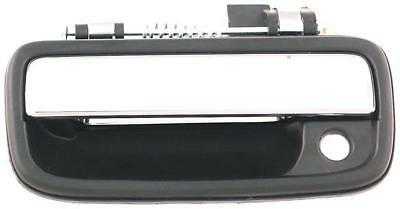 Left Front Outside Door Handle Fits Toyota Tacoma 1995-2004 Black / Chrome