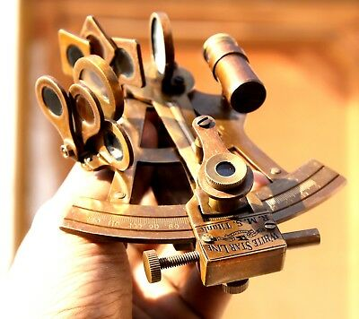 Antique Brass Nautical Beautiful Sextant Vintage Collectible Astro Sextant 4""