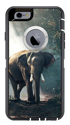 outlet store 7e7ef ab2dd SKIN DECAL WRAP for iPhone 6 Plus Otterbox Defender Elephant Jumbo African